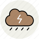 cloud, nature, raining, rainy weather, thunderbolt, thunderstorm, weather icon