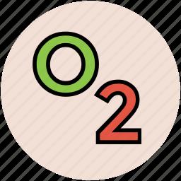 breathing, molecular, oxygen, oxygen formula, oxygen symbol, science icon