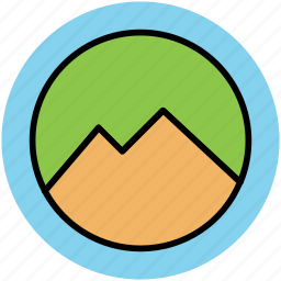 elevation, hills, hump, mountain, nature, nature view, scenery icon