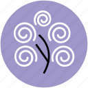 generic tree, spiral creeper plant, tree, tree of spirals icon