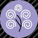 generic tree, spiral creeper plant, tree, tree of spirals icon