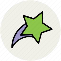 falling star, morning star, moving star, nature, shooting star, star icon
