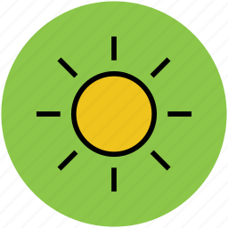 bright day, hot day, summer, sun, sunny day, weather icon