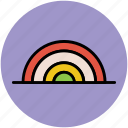 fantasy, nature, rainbow, spectrum, weather icon