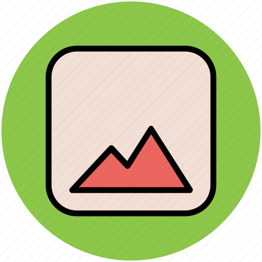 elevation, hills, hump, mountain, nature icon