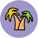 greenery, nature, palm trees, trees, tropical trees icon