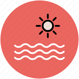 beach, land, nature, sea, sea and sun, seaside, sun, waterside icon