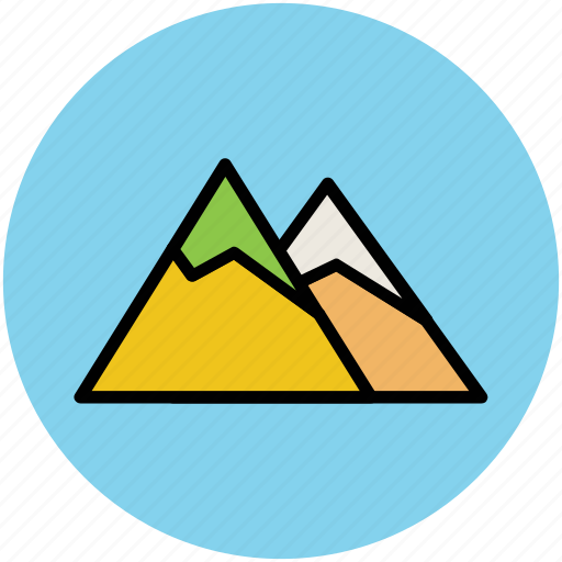 elevation, hills, hump, mountains, nature icon