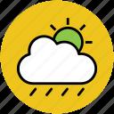 climate, clouds, forecast, rain, raining, sun, weather icon