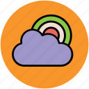cloud, nature, pleasant climate, rainbow, weather, weather forecast icon