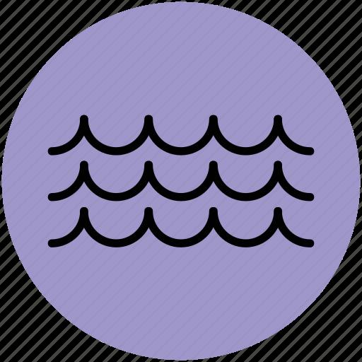 ocean, ocean waves, sea waves, water, water waves icon