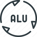 alu, aluminium, recycle, renew, waste icon
