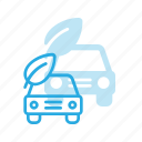 bio, car, eco, nature icon