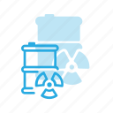 barrel, nuclear, radioactive, waste icon