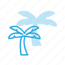 island, nature, palm, tree icon