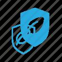 eco, leaf, nature, protect, shield icon