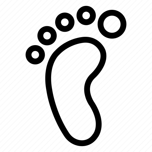 body, foot, human, step icon