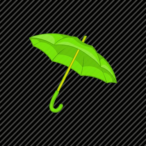 cartoon, green, protection, rain, sign, umbrella, weather icon