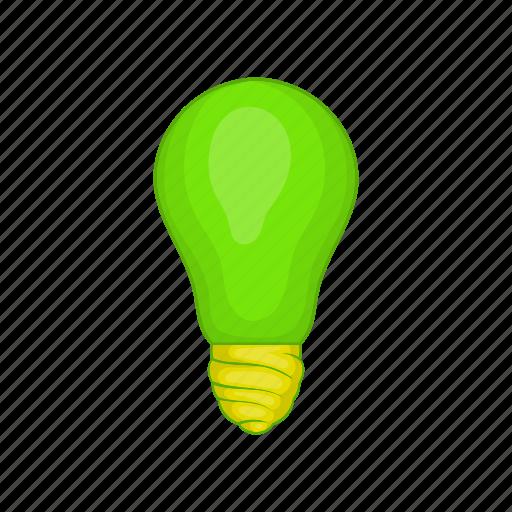 bulb, cartoon, eco, energy, idea, light, sign icon