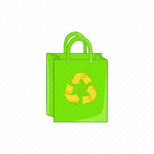 cartoon, ecology, green, package, recycle, recycling, sign icon