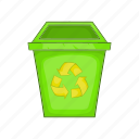 cartoon, dustbin, eco, garbage, recycle, sign, trash icon