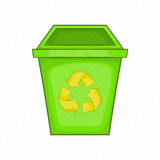 cartoon, dustbin, eco, garbage, recycle, sign, trash icon
