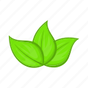 cartoon, ecology, green, leaves, nature, plant, sign icon