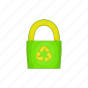 bag, cartoon, eco, ecology, green, recycle, sign icon