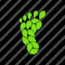 cartoon, eco, foot, footprint, green, nature, sign icon
