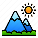 landscape, mountain, nature, view icon