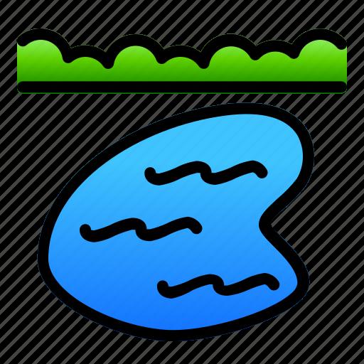 lake, landscape, nature, water icon