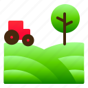 farm, green, landscpe, nature, view
