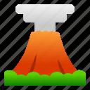landscape, mountain, nature, view, volcano icon