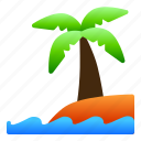 beach, coconut, landscape, nature, sea, view icon
