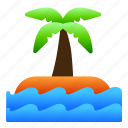 island, landscape, nature, sea, tree, view icon