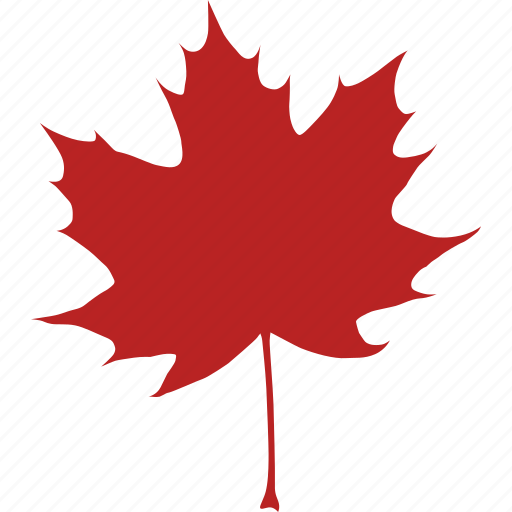 autumn, canada, canadian, fall, leaf, maple, red icon