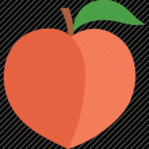 food, fruit, leaf, nectarine, peach, persica, prunus icon