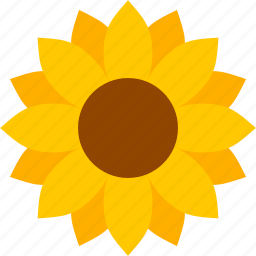flower, helianthus, ligules, petals, sun, sunflower, yellow icon