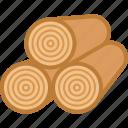 logs, lumber, rings, stack, timber, wood, wooden
