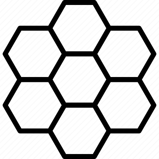 cells, comb, hexagon, hexagonal, honey, honeycomb, pattern icon