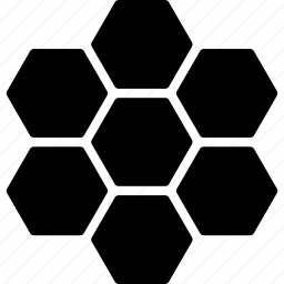 cells, comb, hexagon, hexagonal, honey, honeycomb, pattern icon