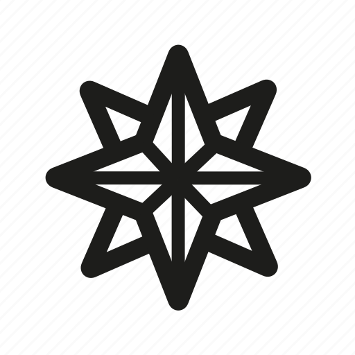 compass, nautical, star icon