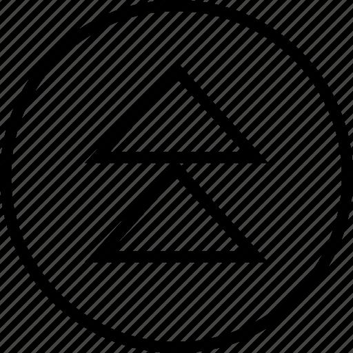 arrow, high, up icon