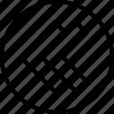 arrow, direction, double, left