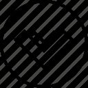 arrow, direction, download, sleek icon