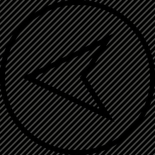 arrow, gps, left, point icon