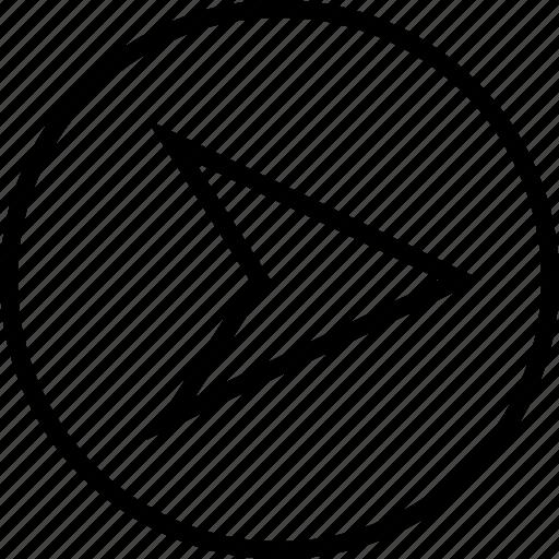 arrow, gps, point, right icon