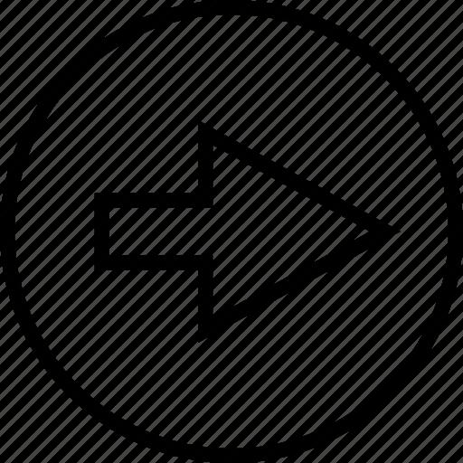 arrow, direction, go, right icon