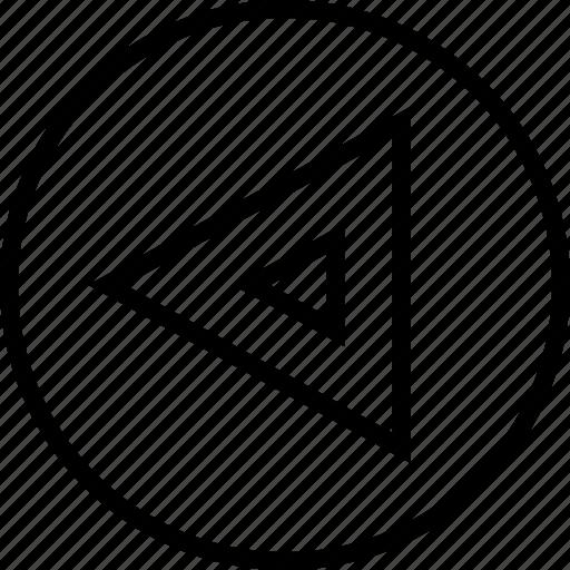 arrow, direction, left, triangle icon