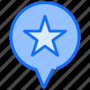 navigation, pointer, gps, star, marker, pin